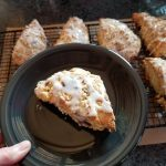 cherry scones with lemon glaze, scones recipe