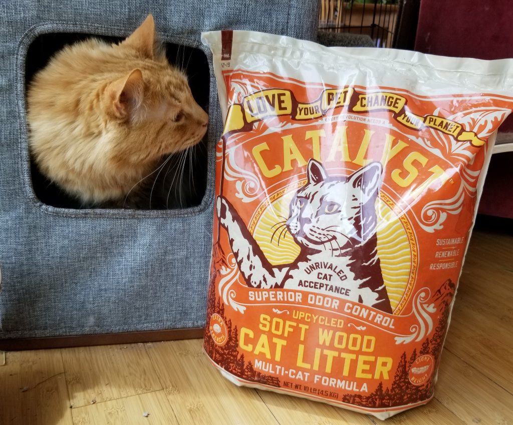 Sherpa and Catalyst cat litter