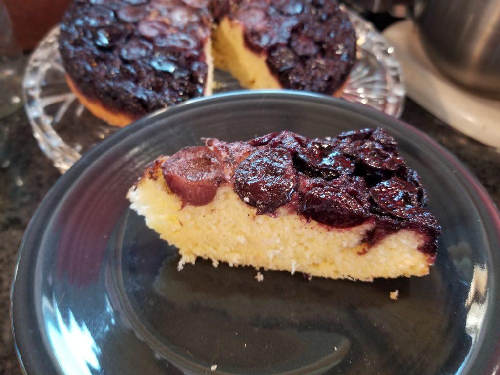 cherry vanilla upside down cake