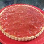 strawberry rhubarb custard tart