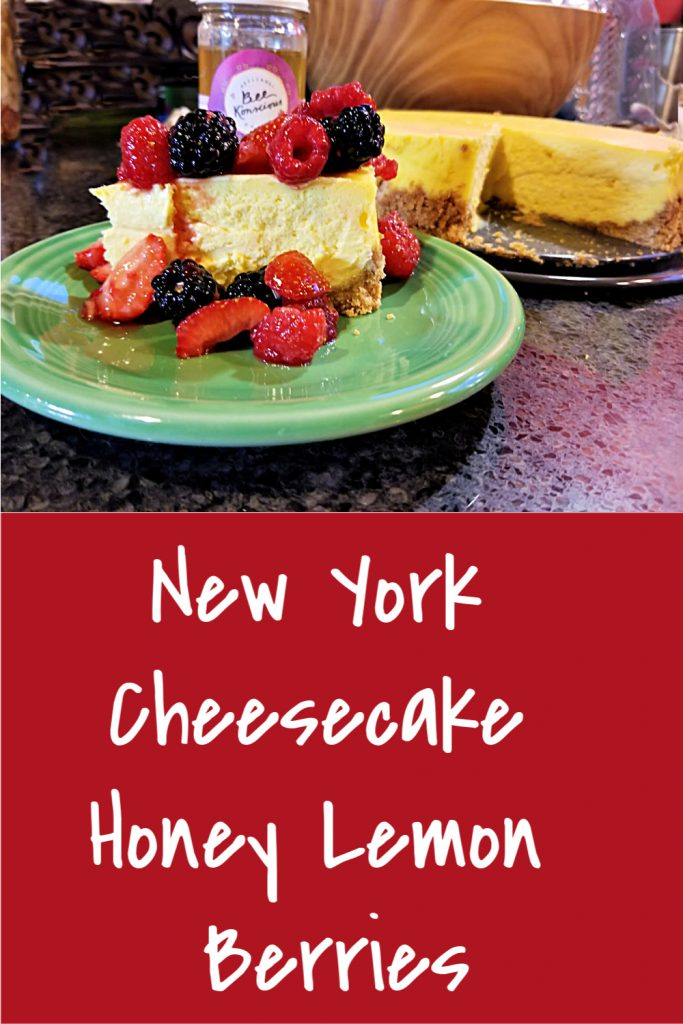 New York Cheesecake with Honey Lemon Berries