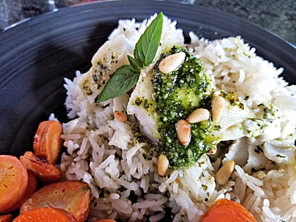 pesto steamed cod, cod recipes