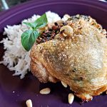 air fryer recipe, pesto stuffed chicken