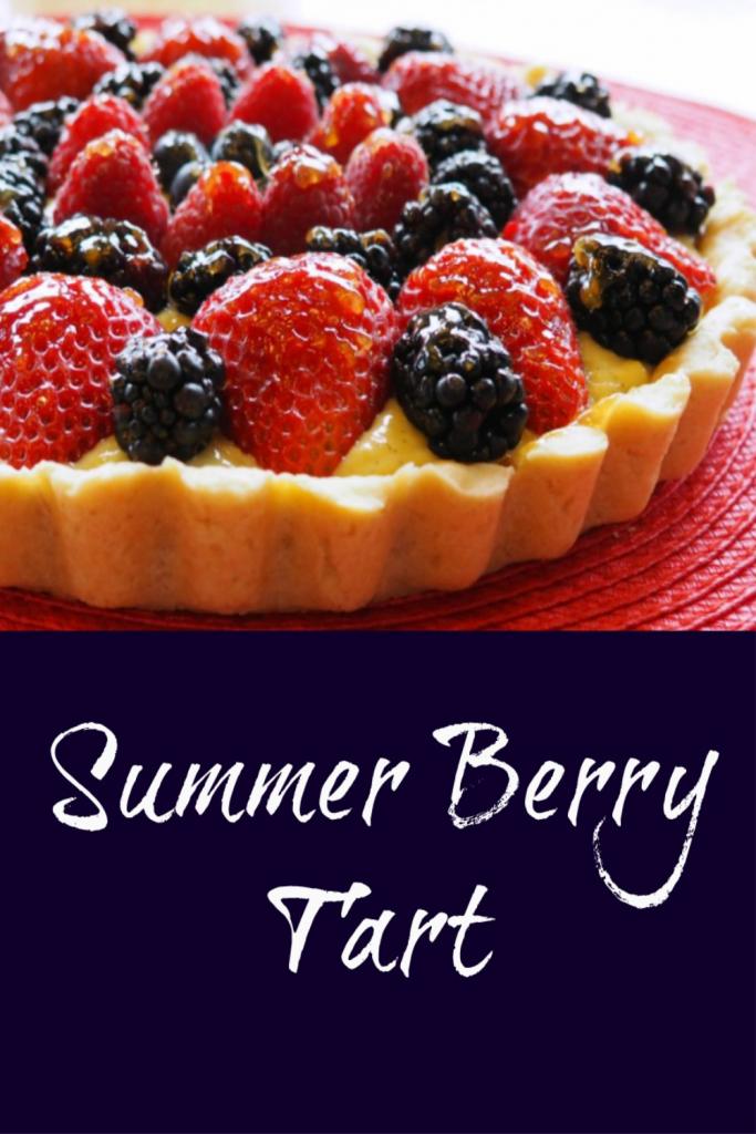 fruit tart recipe, summer berry tart