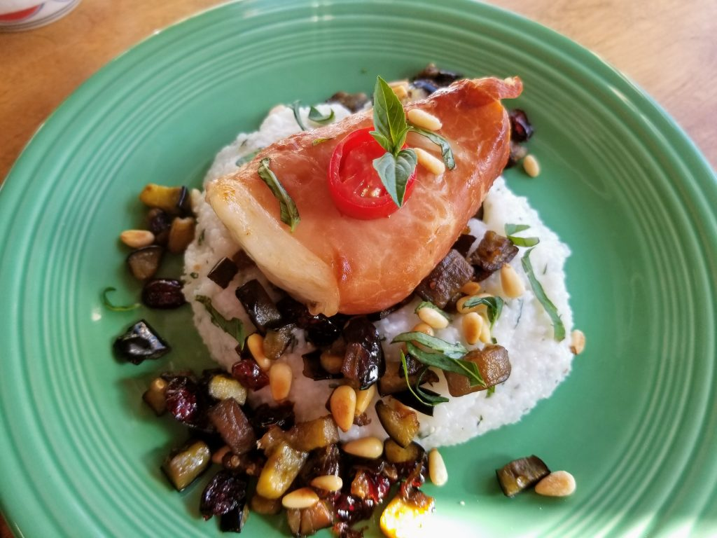 plated air fryer chilean sea bass recipe