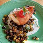 plated air fryer chilean sea bass recipe