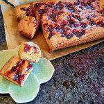 brown butter bondies with cherry jam