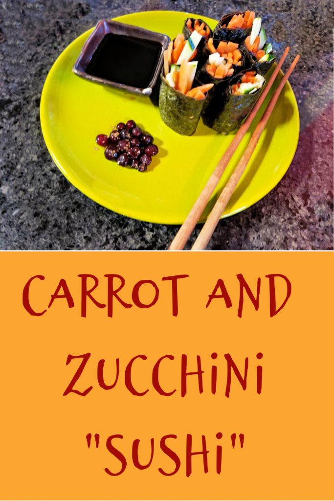 carrot recipe, carrot and zucchini sushi