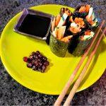 carrot and zucchini sushi