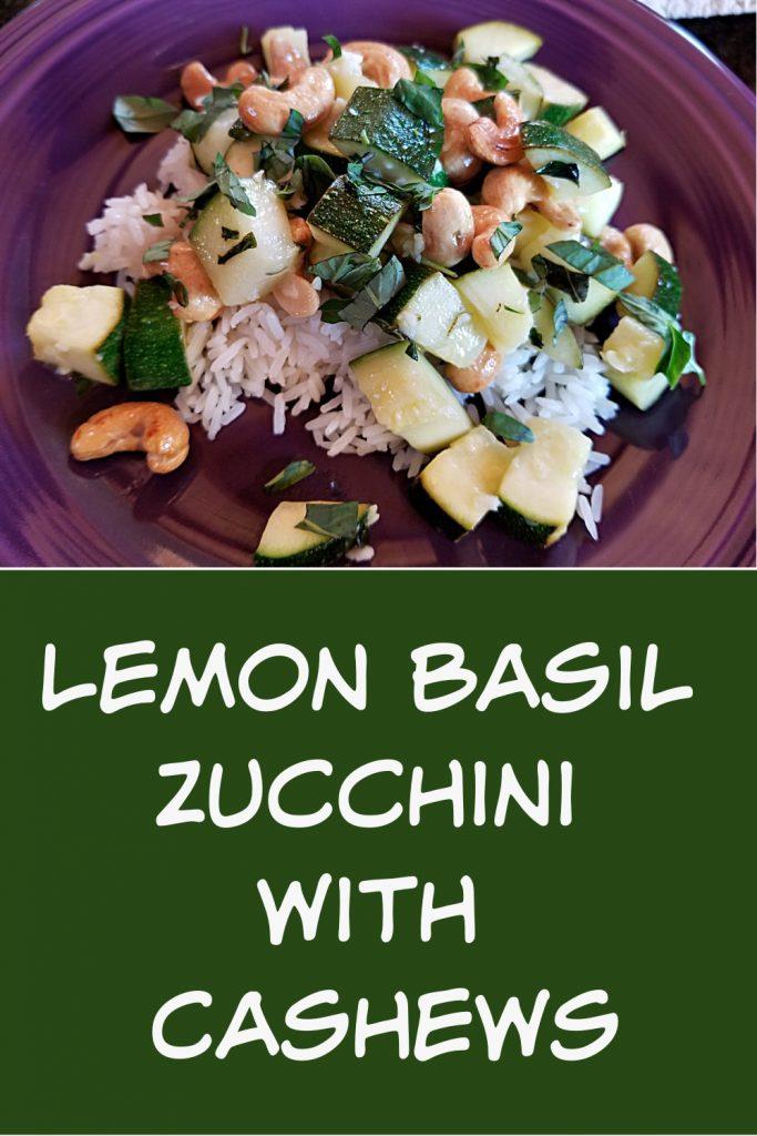zucchini recipe, lemon basil zucchini