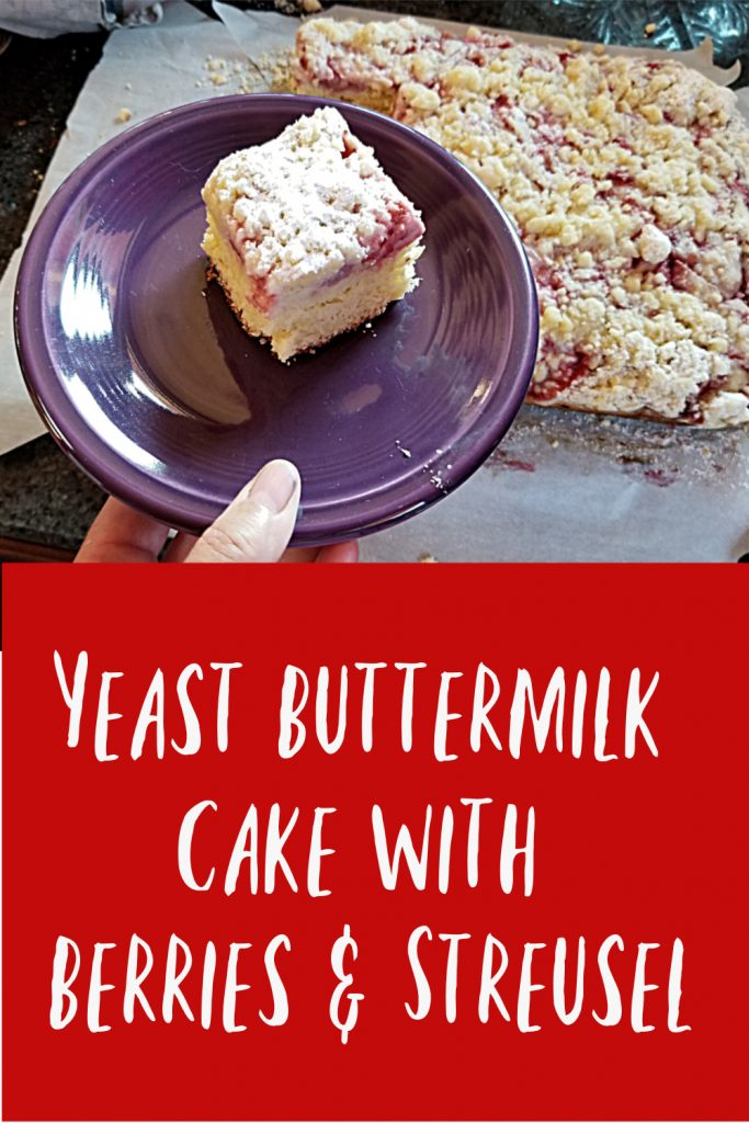 yeasted coffee cake with strawberries