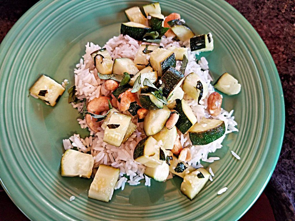 plated zucchini recipe
