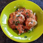 eggplant meatballs with fresh tomato sauce