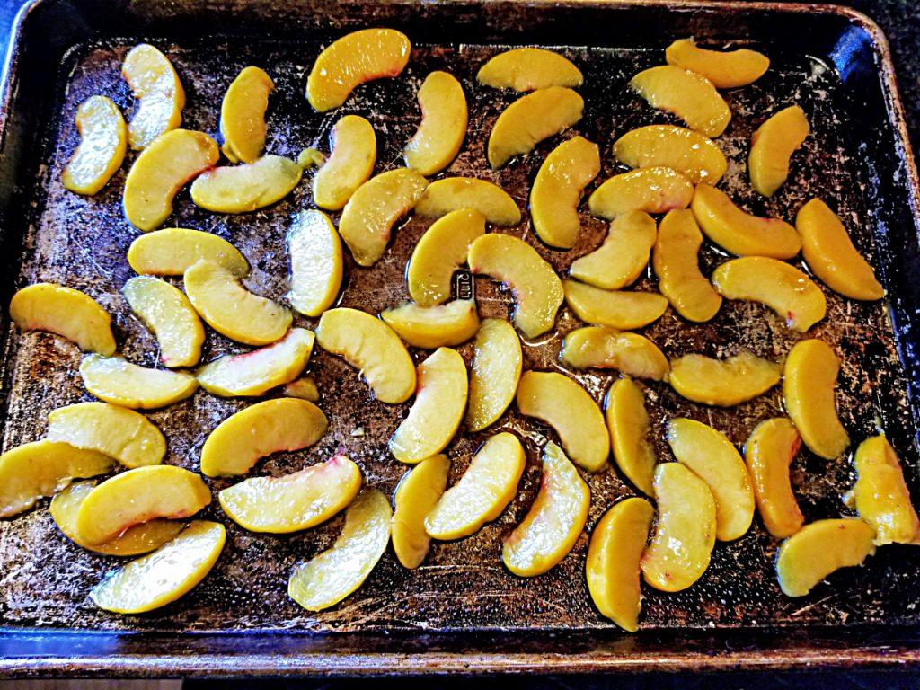 roast peach slices