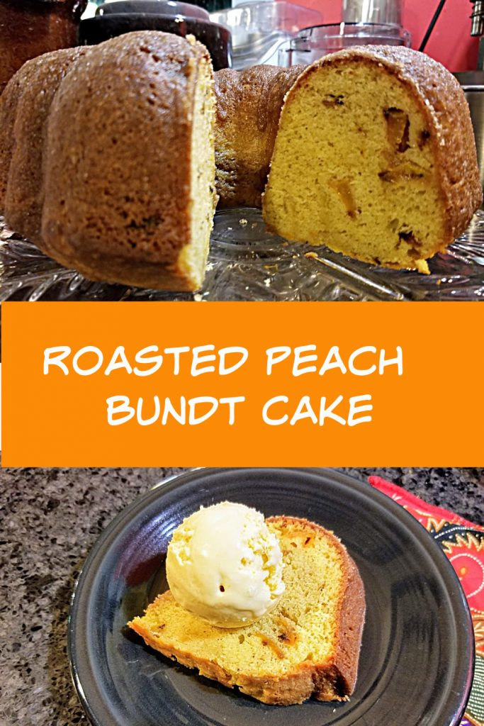 roasted peach bundt cake