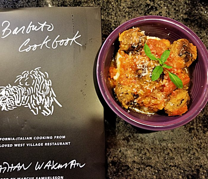 Meatballs and Polenta from The Barbuto Cookbook by Jonathan Waxman