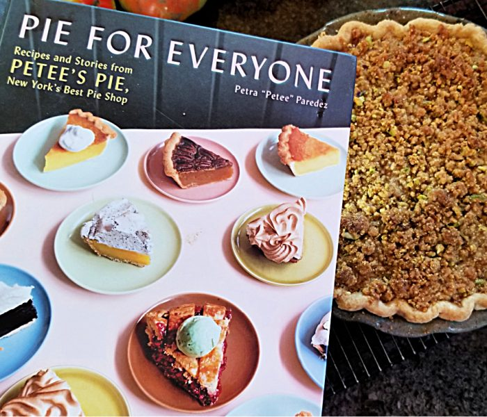 Pear Pie with Pistachio Crumb Topping – Pie for Everyone by Petra Paredez, Petee's Pies