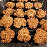 oatmeal cookies on wire rack