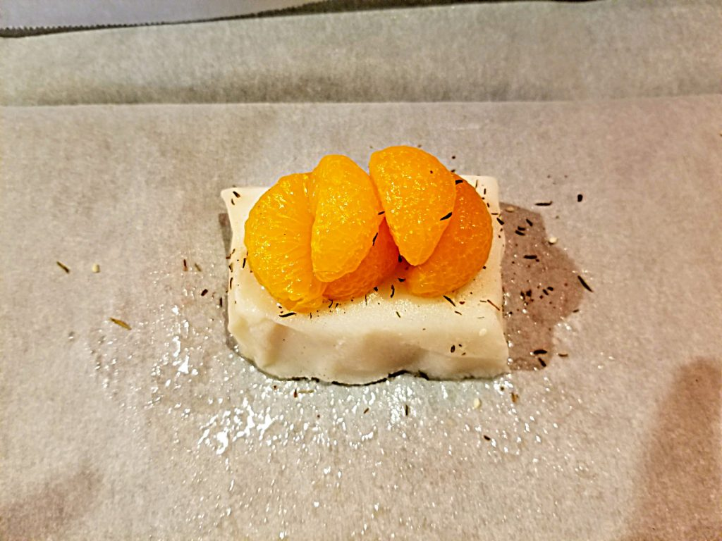 sea bass in parchment
