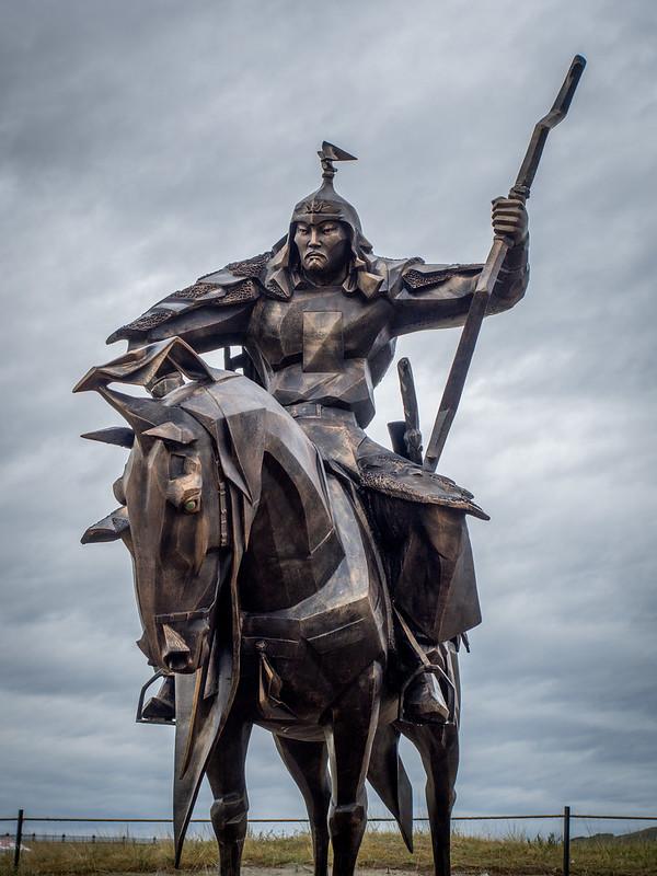 mongol warrior statue