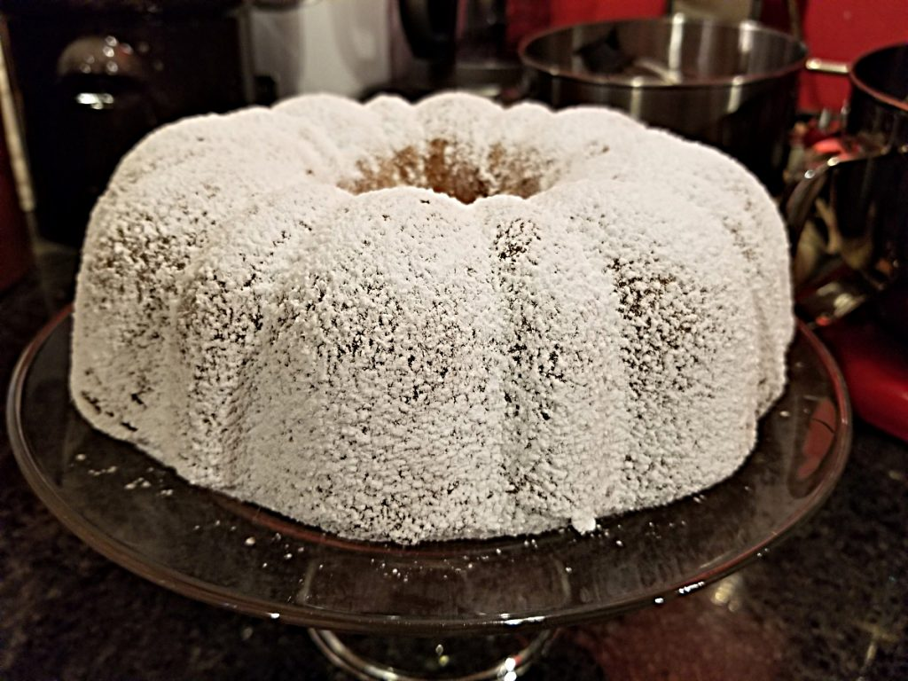 pound cake with dried apricots and prunes
