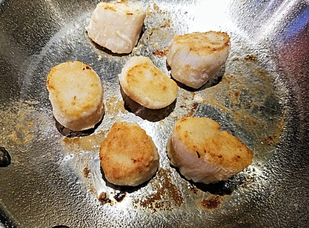 pan fry scallops