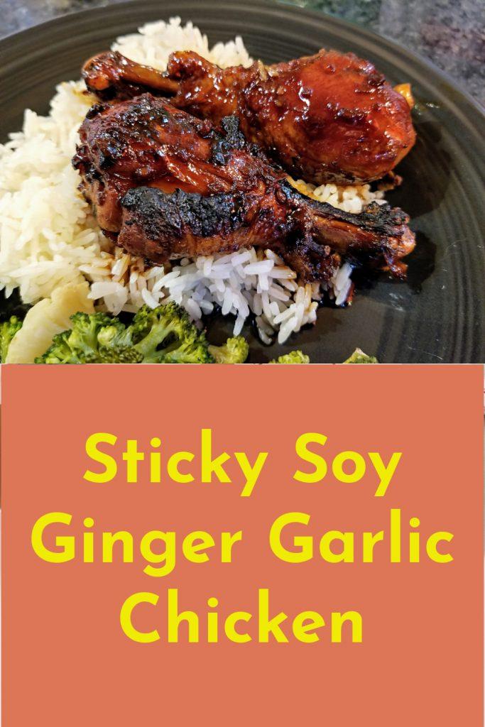 sticky soy ginger chicken