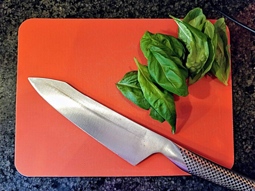 chop basil