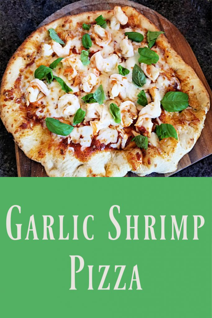 garlic shrimp pizza