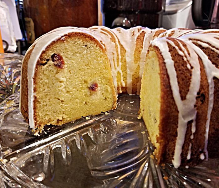 Lime Recipe: Lime and Dried Cranberry Bundt Cake Recipe