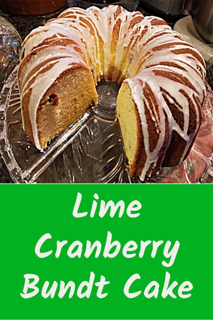 Lime Cranberry Bundt Cake, Lime Recipe