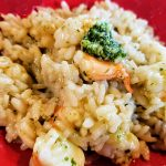 shrimp pesto risotto