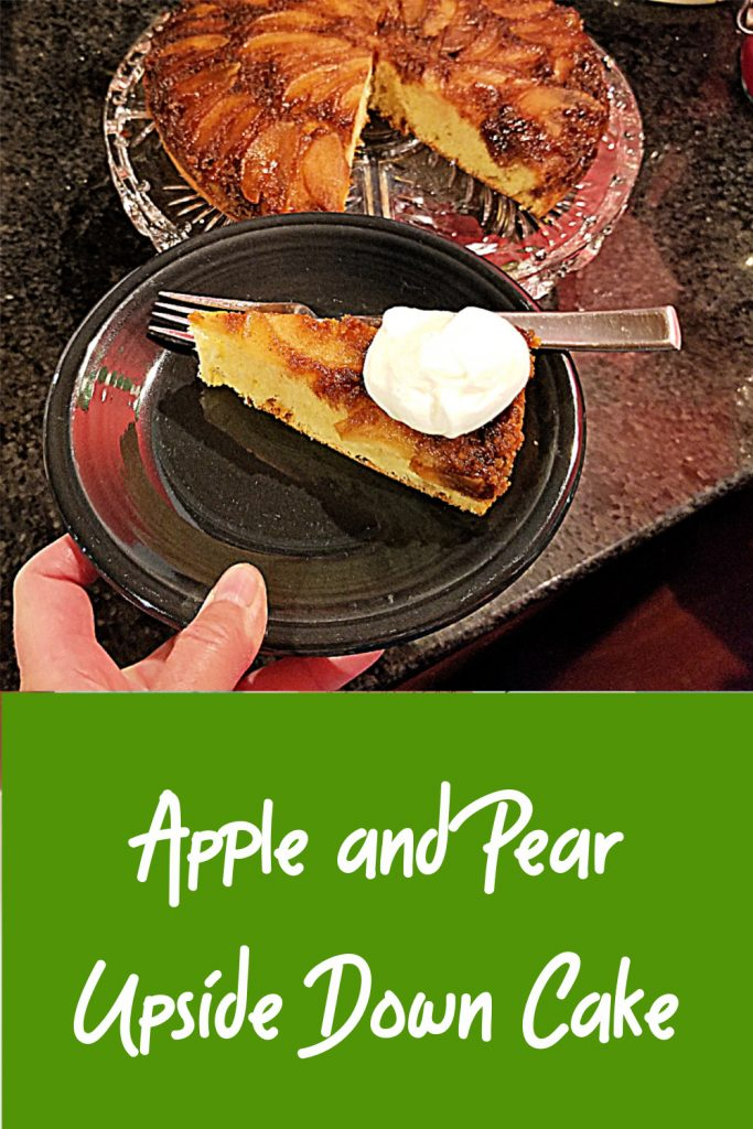 apple and pear upside down cake recipe