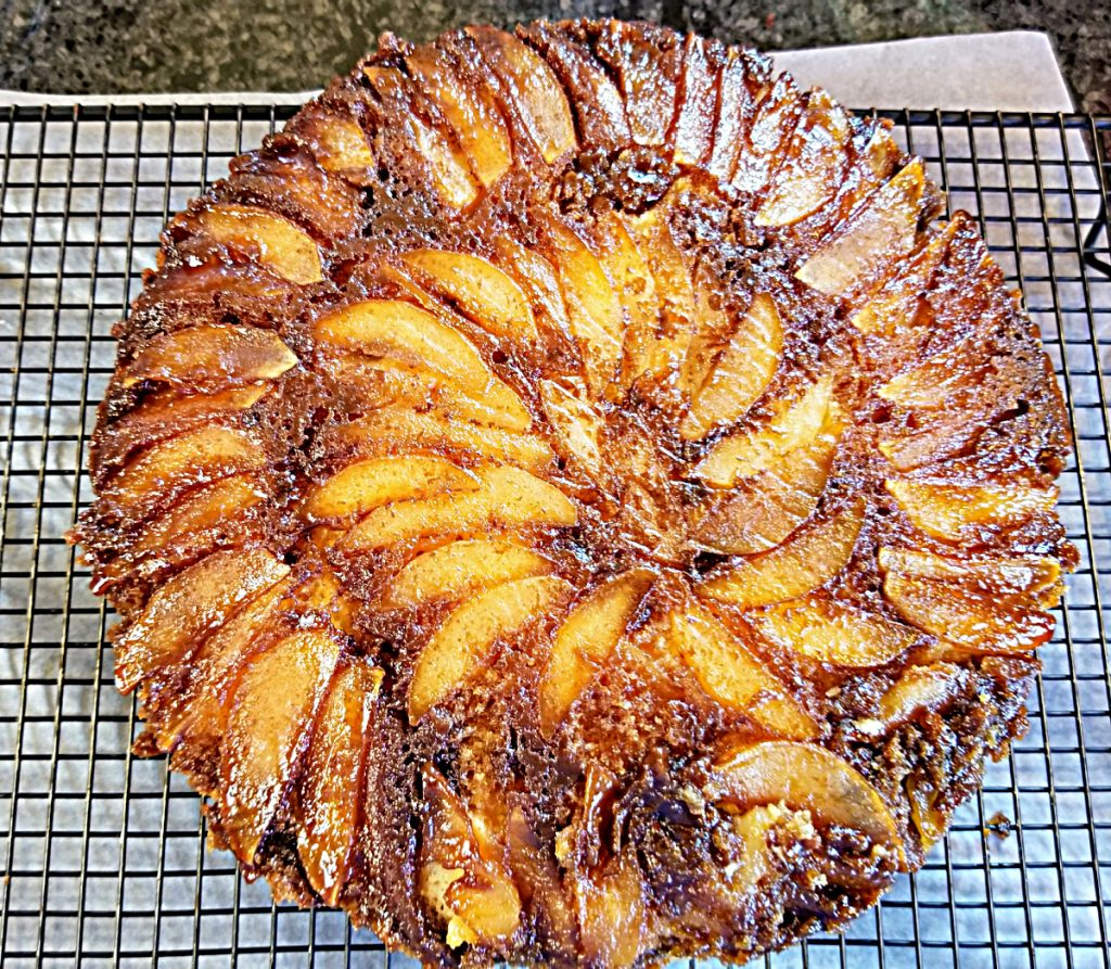 apple and pear upside down cake