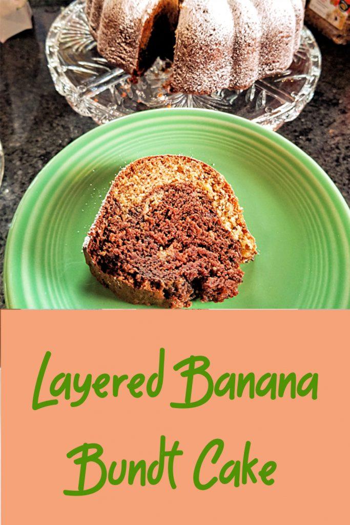 layered banana bundt cake