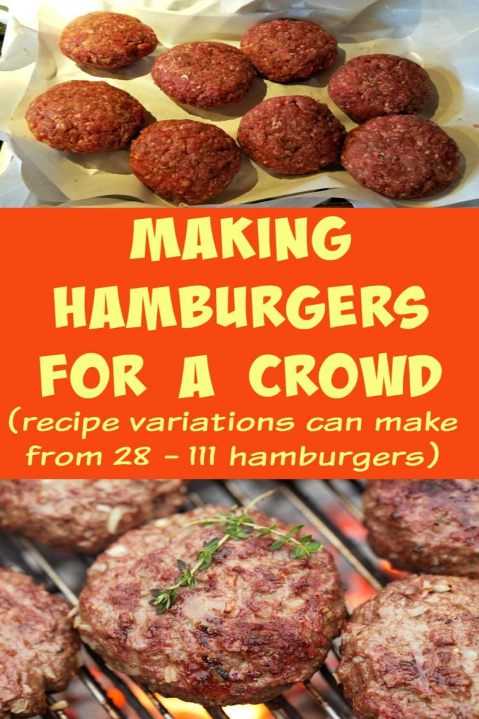hamburgers for a crowd