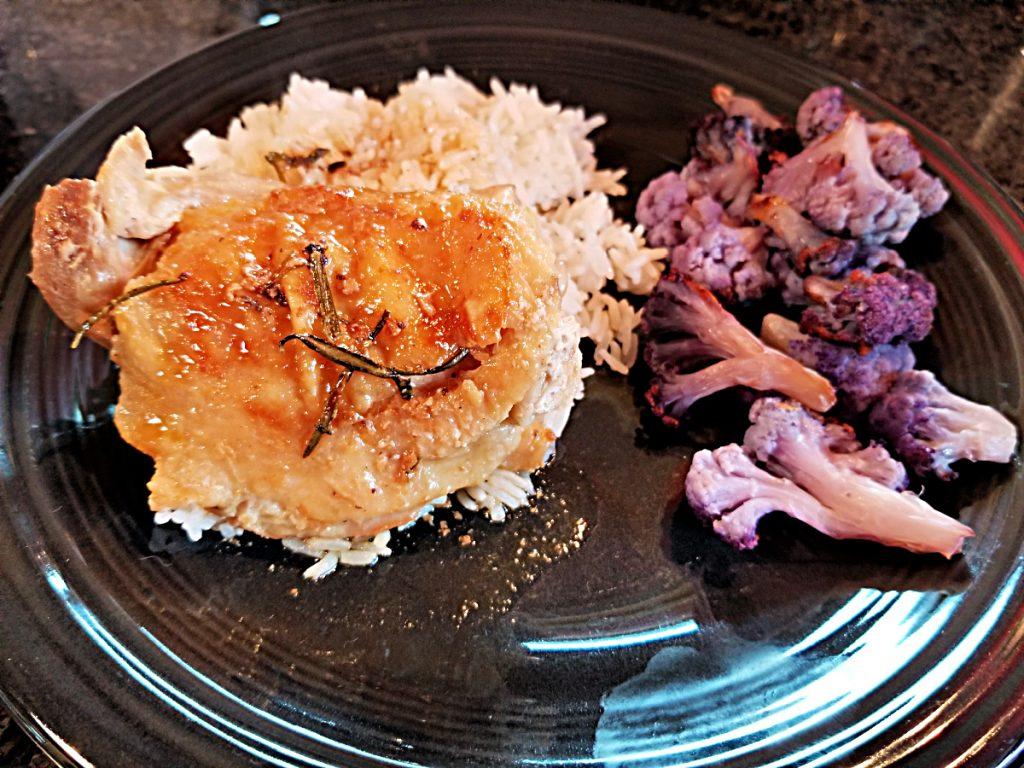 plated rosemary chicken