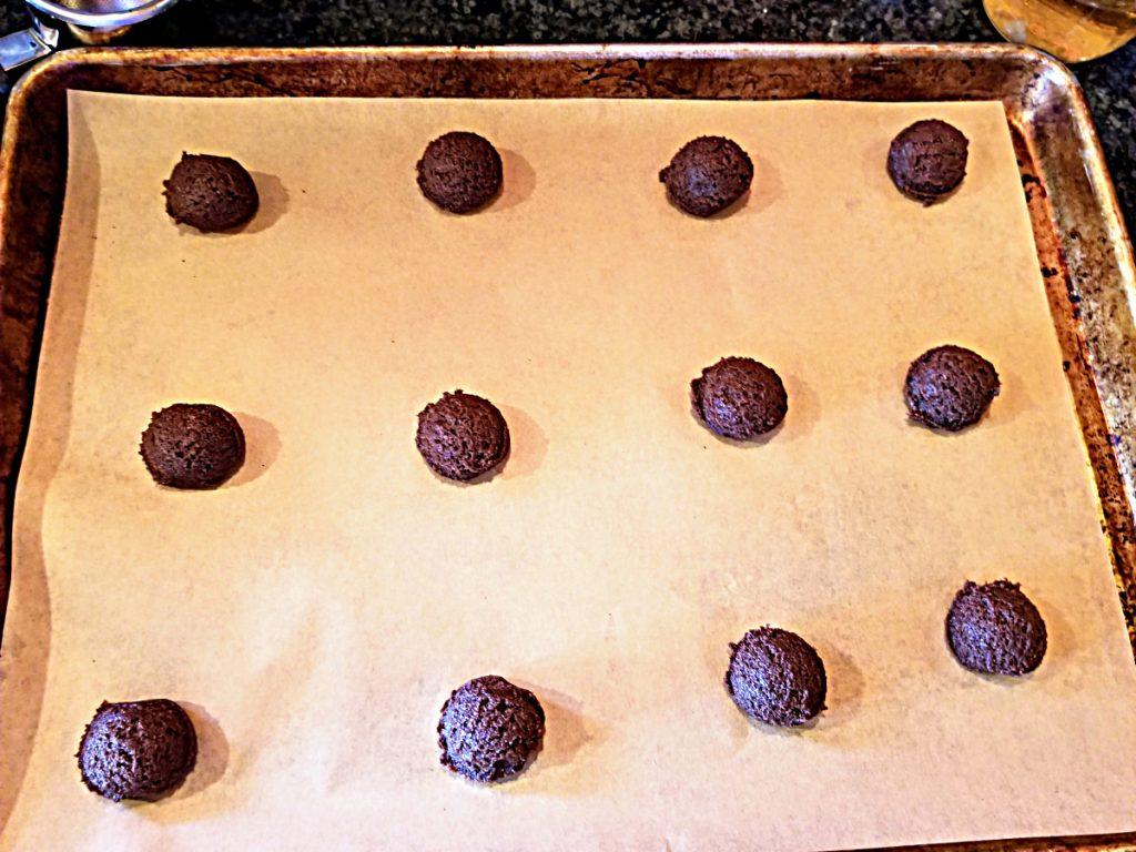 place dough balls on sheet