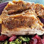 ribs with apple rhubarb barbecue sauce