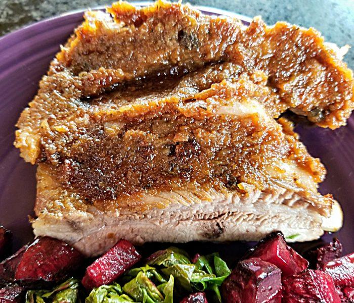 Rhubarb Recipe:  Ribs with Apple Rhubarb Barbecue Sauce
