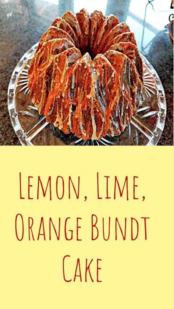 lemon lime orange bundt cake