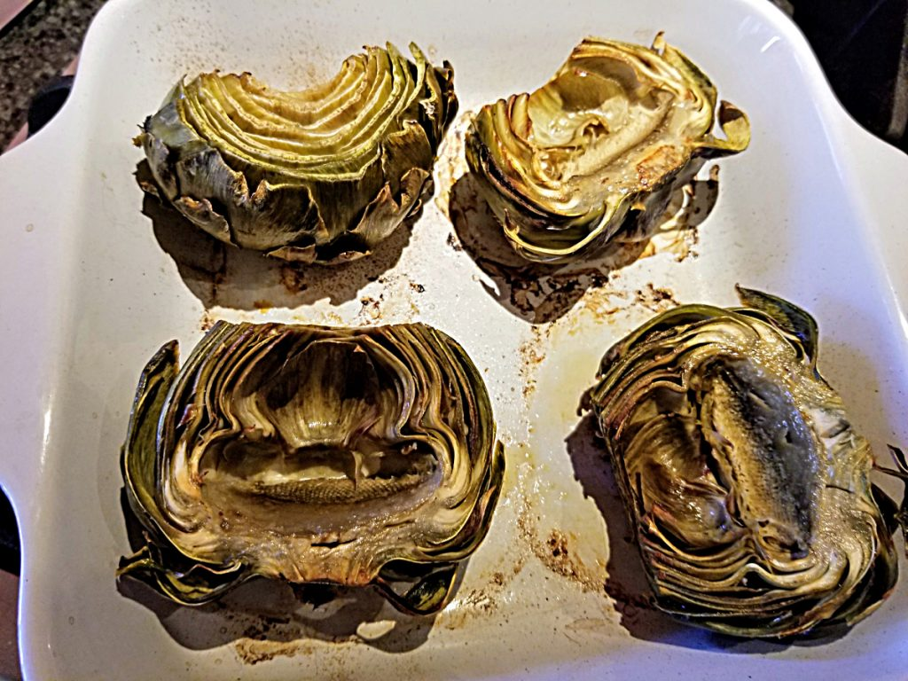 bake artichokes