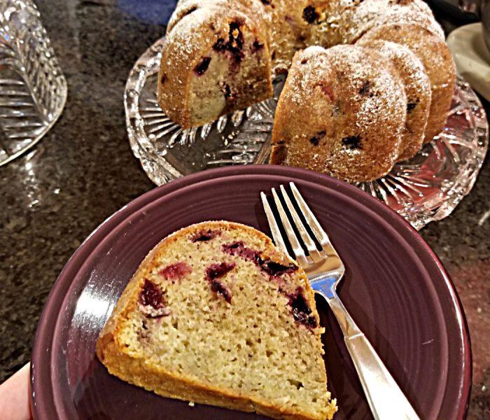 Cherry Lemon Bundt Cake