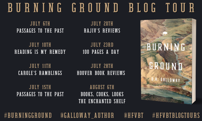 schedule for Burning Ground Book Tour